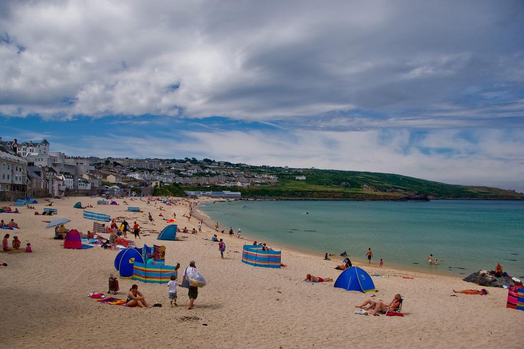 Пляж Портминстер в Великобритании, фото 3