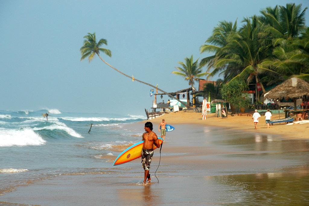 Пляж Хиккадува в Шри-Ланке, фото 1