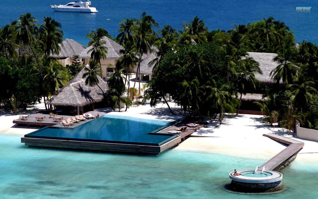 Пляж Конрад Рангали на Мальдивах, фото 18