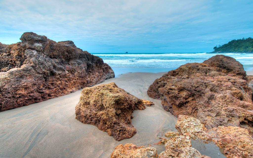 Пляж Хот-Вотер Бич в Новой Зеландии, фото 4