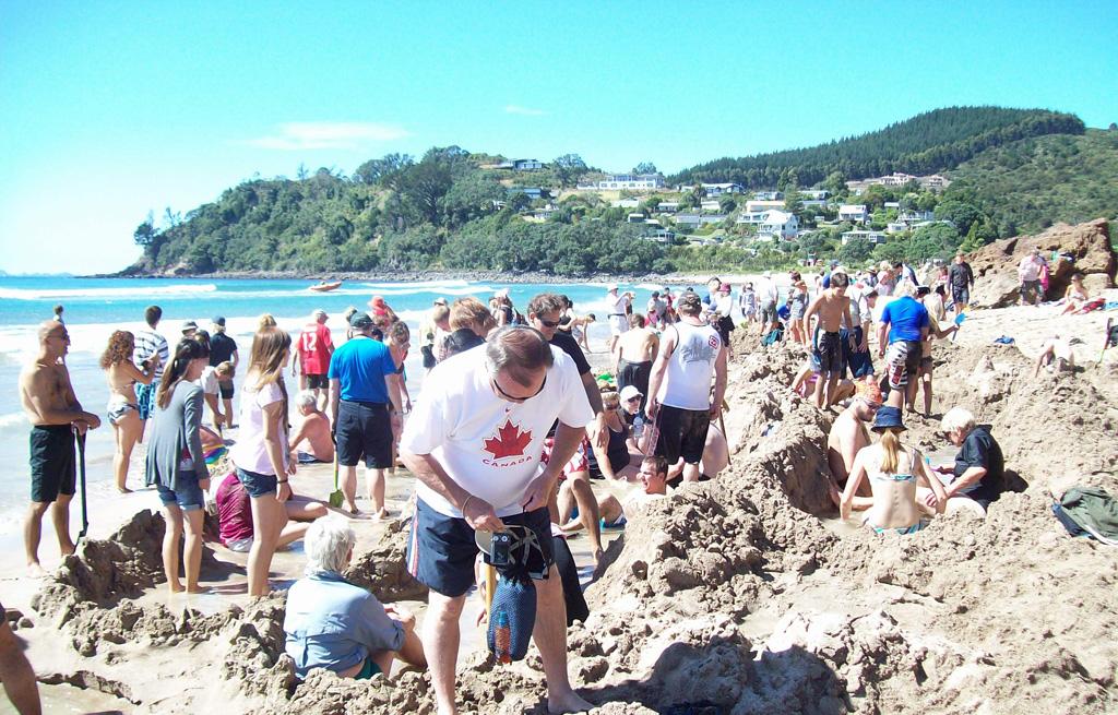 Пляж Хот-Вотер Бич в Новой Зеландии, фото 9
