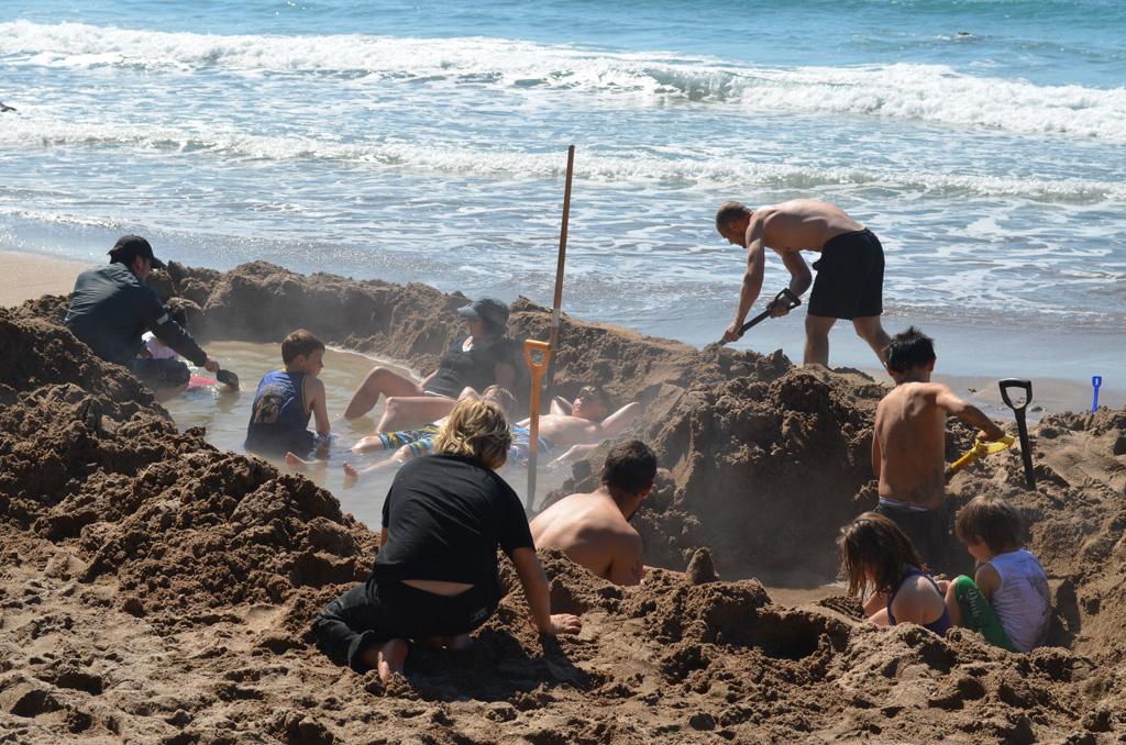 Пляж Хот-Вотер Бич в Новой Зеландии, фото 12