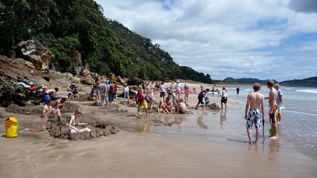 Пляж Хот-Вотер Бич в Новой Зеландии, фото 13