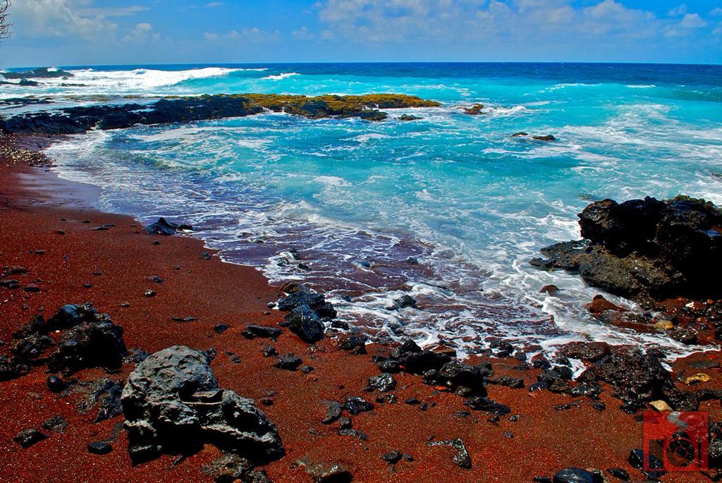 Пляж из красного песка в США, фото 2