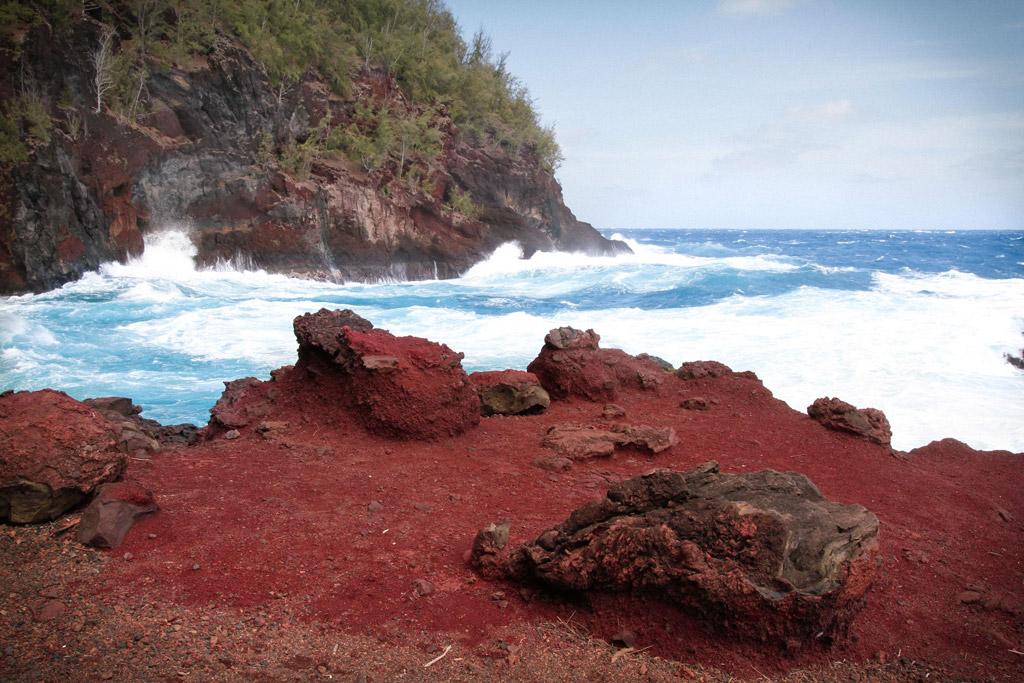 Пляж из красного песка в США, фото 11