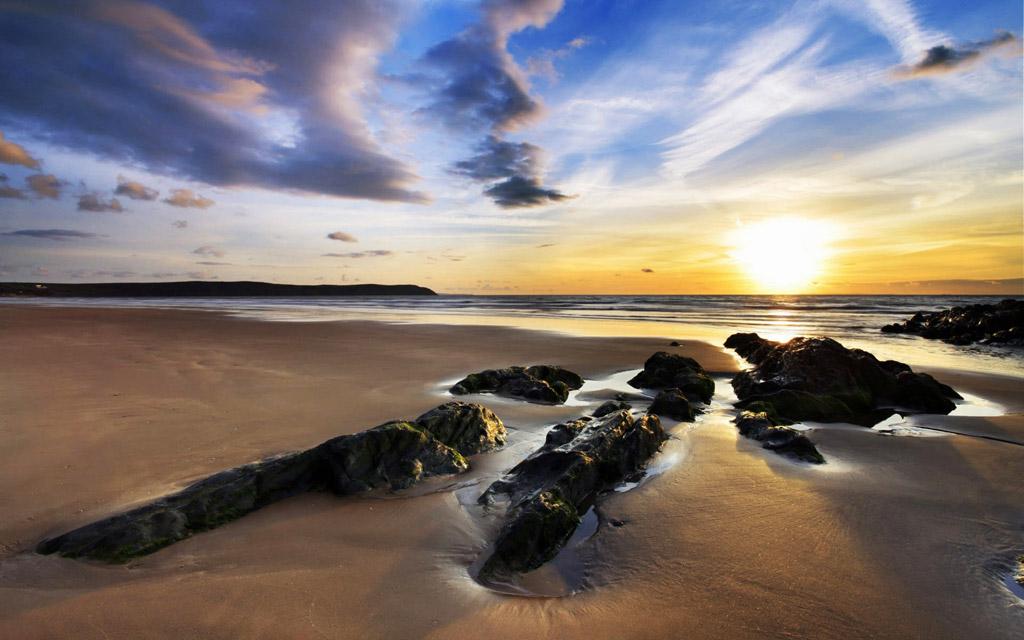 Пляж Вулакомб в Великобритании, фото 8