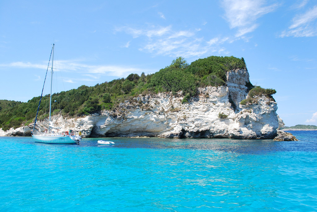 Пляж острова Паксос в Греции, фото 1