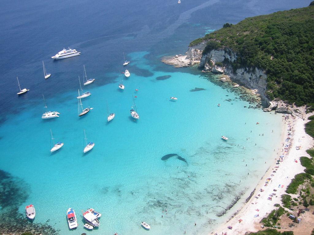 Пляж острова Паксос в Греции, фото 6