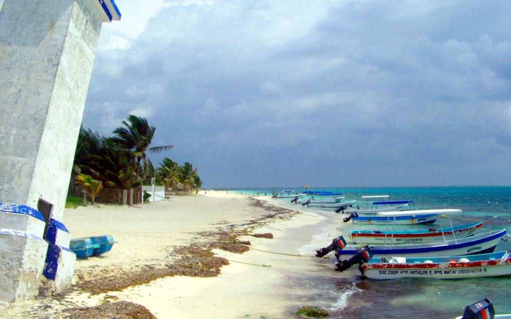 Пляж Пуэрто-Морелос в Мексике, фото 6