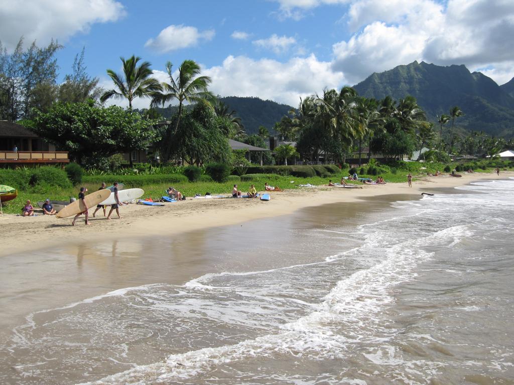 Пляж Ганалеи Бэй в США, фото 1