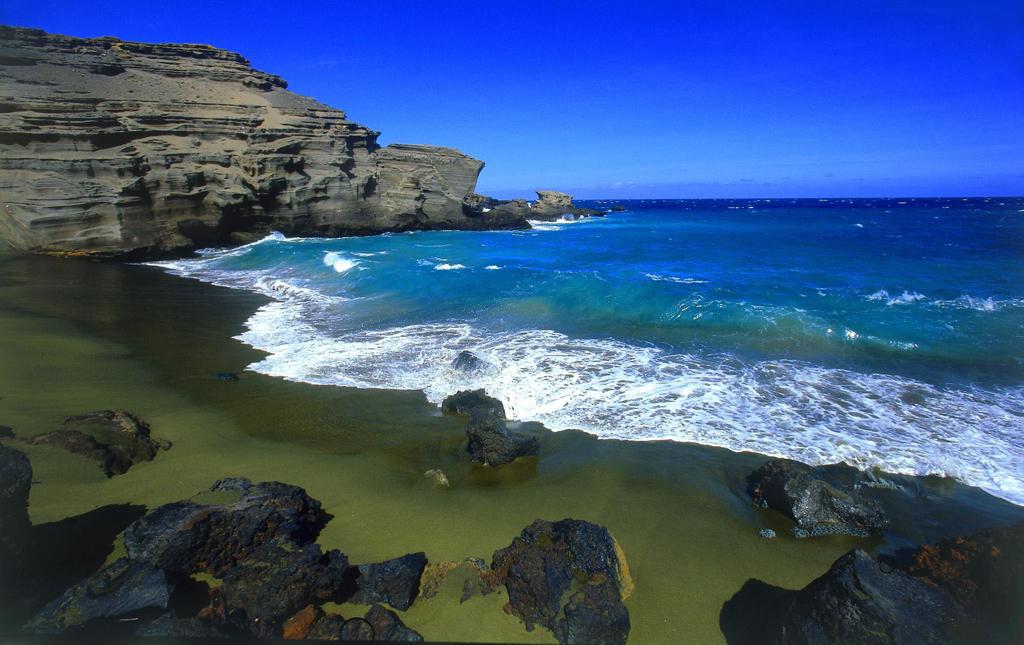 Пляж Грин Сэнд в США, фото 10