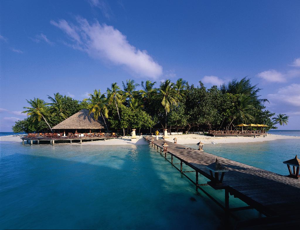 Пляж острова Ихуру на Мальдивах, фото 2