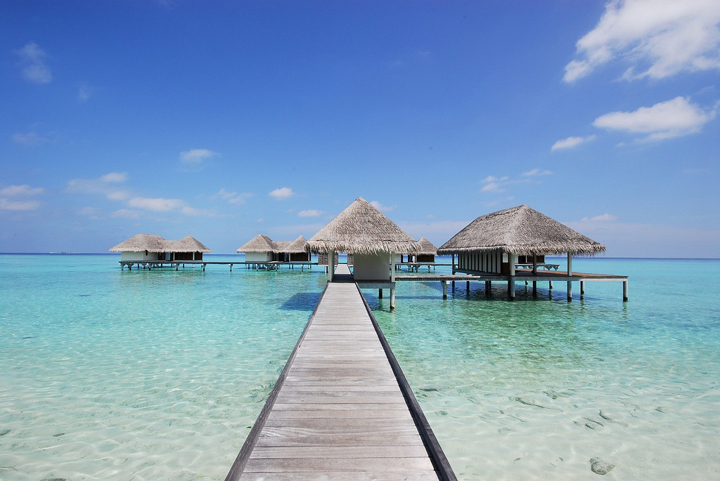Пляж острова Куда Хураа на Мальдивах, фото 2
