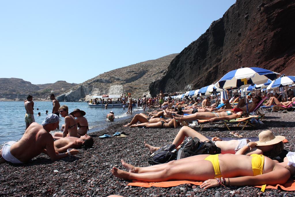 Пляж Красный в Греции, фото 10