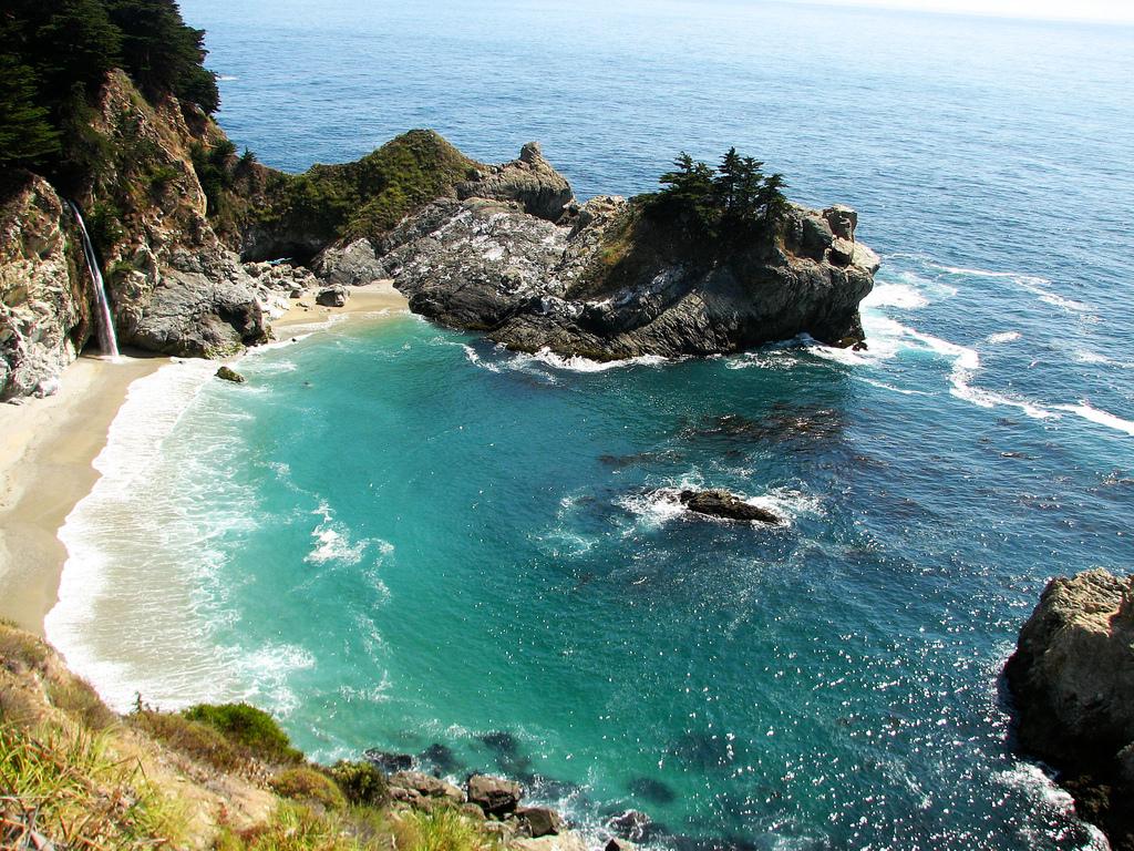 Пляж Биг Сюр в США, фото 9