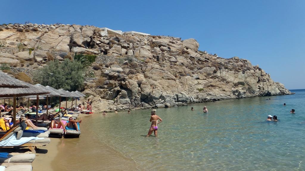 Пляж острова Миконос в Греции, фото 1