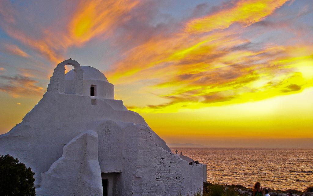 Пляж острова Миконос в Греции, фото 9