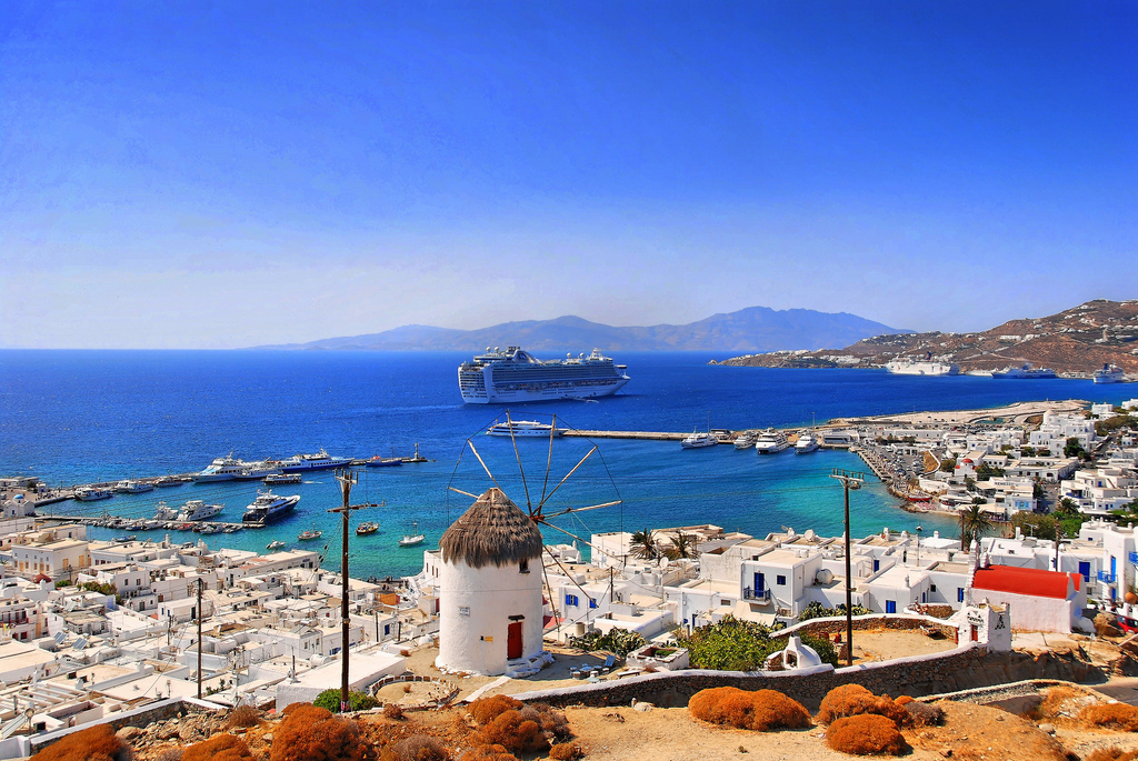 Пляж острова Миконос в Греции, фото 11