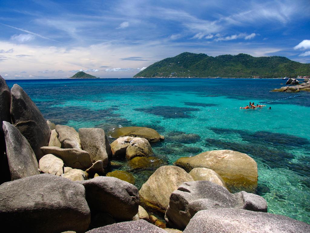 Пляж острова Пханган в Таиланде, фото 1