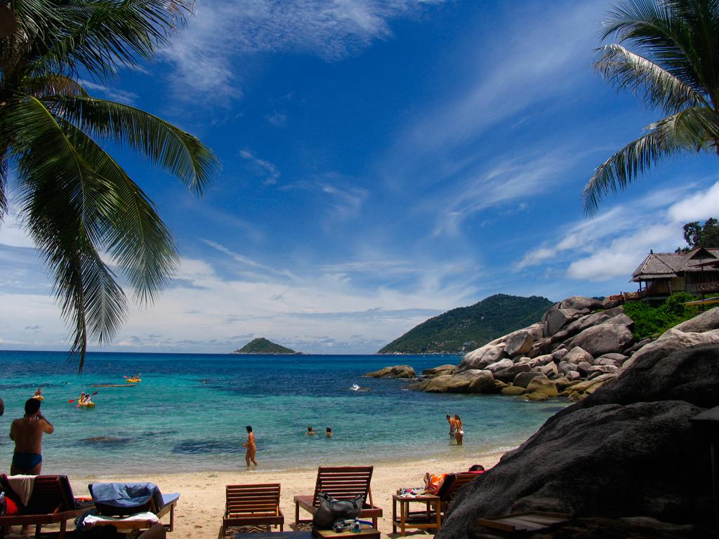 Пляж острова Пханган в Таиланде, фото 7