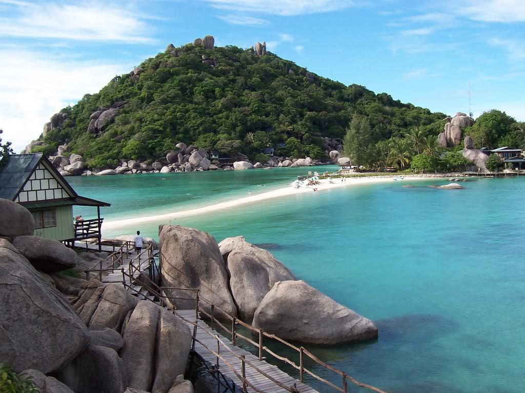 Пляж острова Пханган в Таиланде, фото 8
