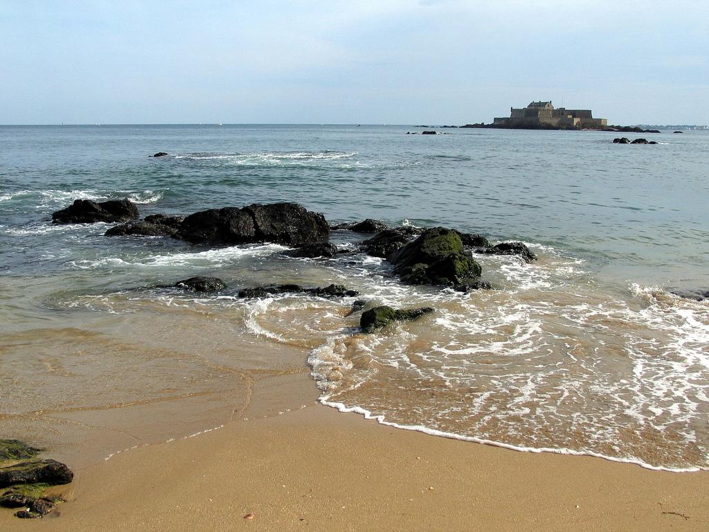 Пляж Сен-Мало во Франции, фото 1