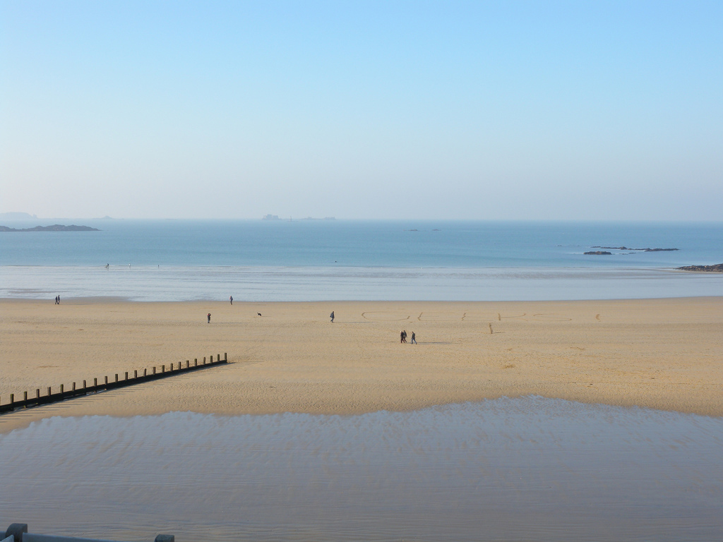 Пляж Сен-Мало во Франции, фото 3