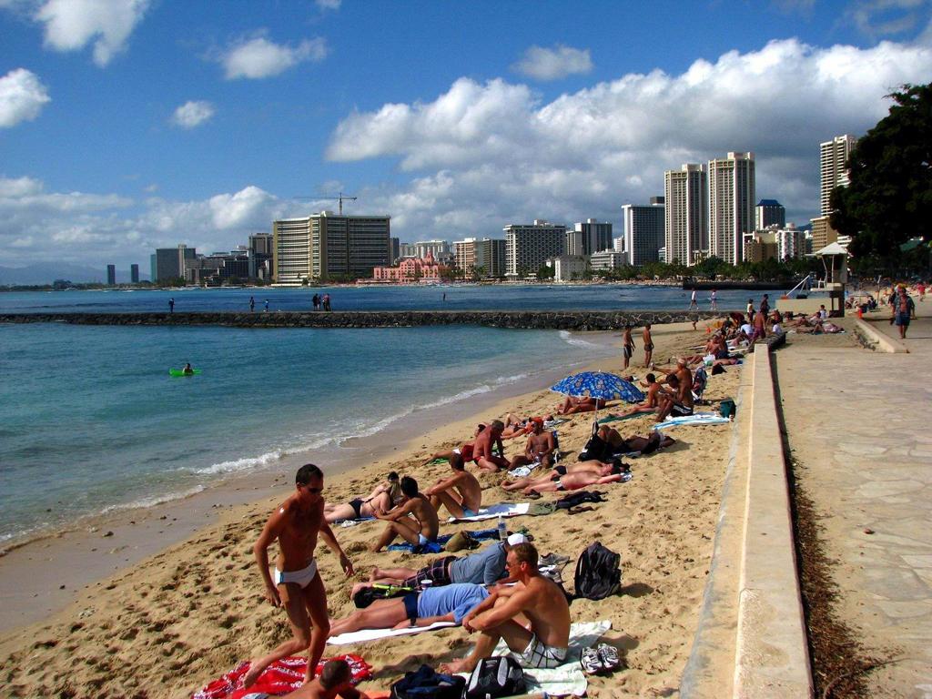 Пляж Гонолулу в США, фото 5