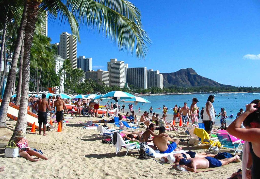 Пляж Гонолулу в США, фото 6