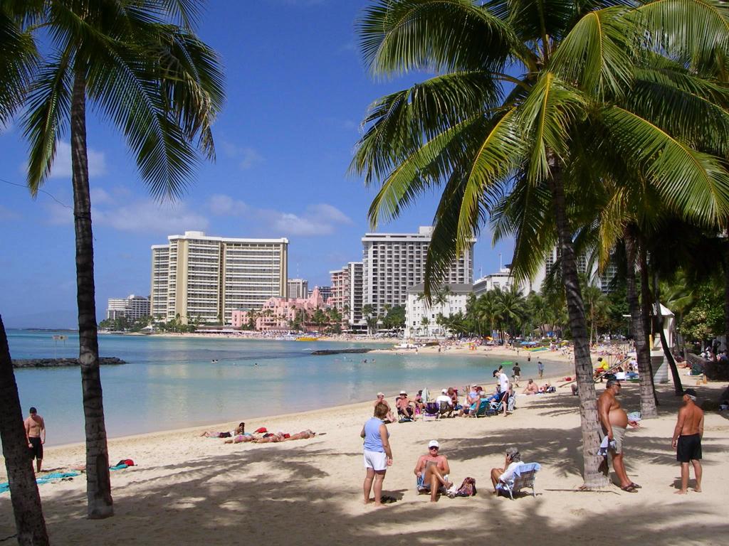 Пляж Гонолулу в США, фото 7