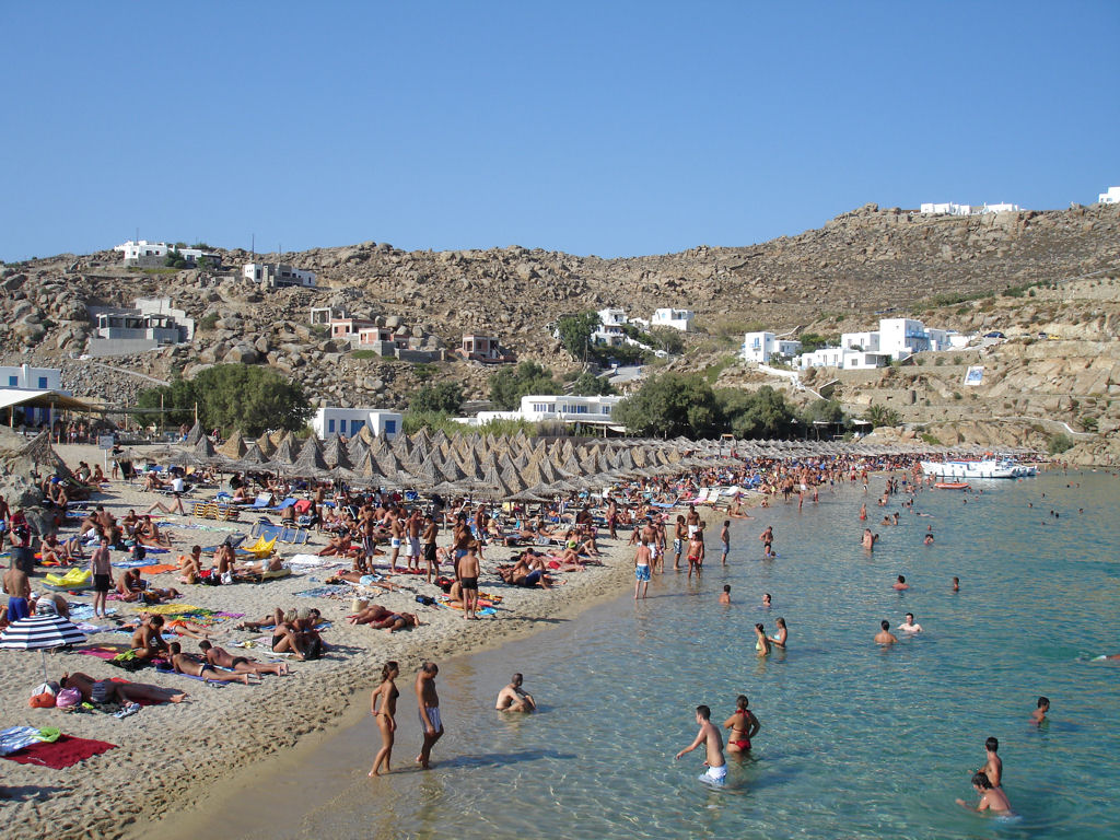 Пляж Миконос в Греции, фото 1