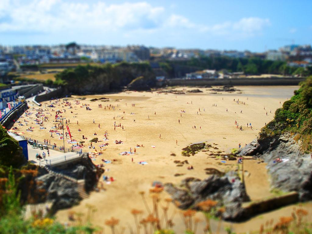 Пляж Ньюквей в Великобритании, фото 2