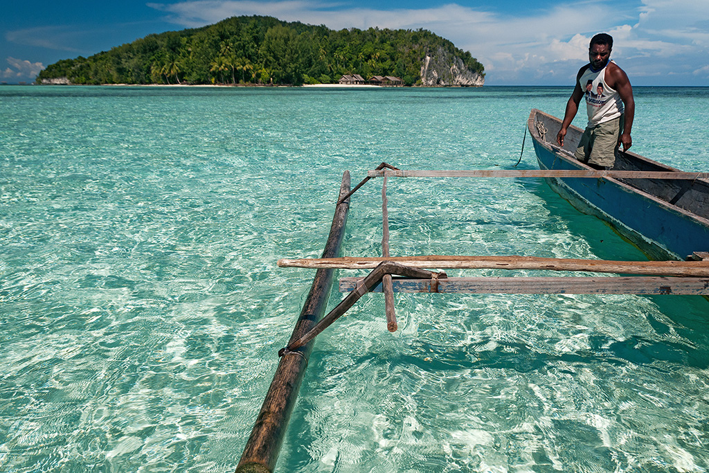Пляж острова Раджа Ампат в Индонезии, фото 9