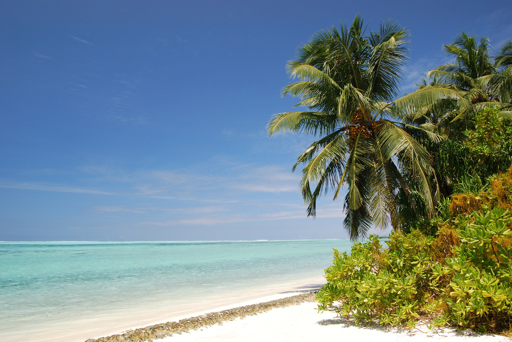 Пляж острова Сан Айлэнд на Мальдивских островах, фото 4