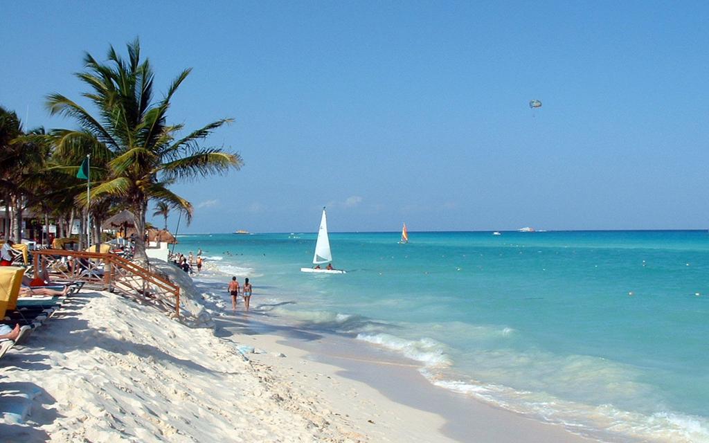 Пляж Пуэрто-Авентурас в Мексике, фото 2
