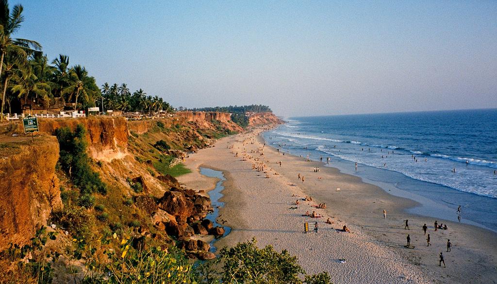 Пляж Варкала в Индии, фото 1