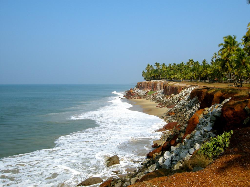 Пляж Варкала в Индии, фото 9