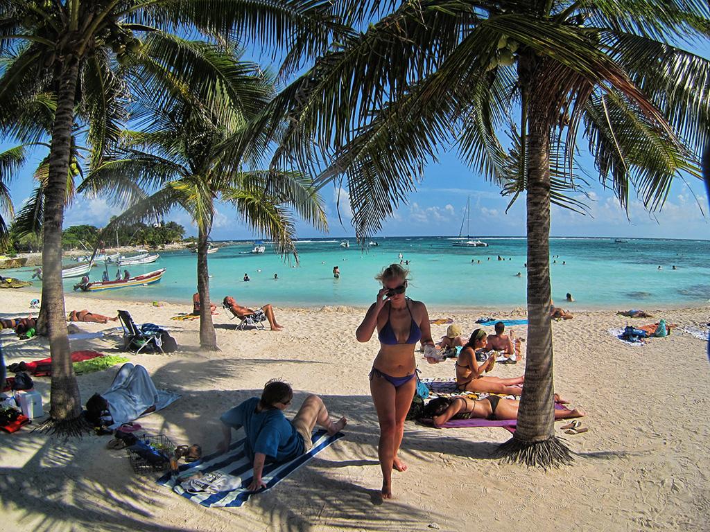Пляж Акумаль в Мексике, фото 1