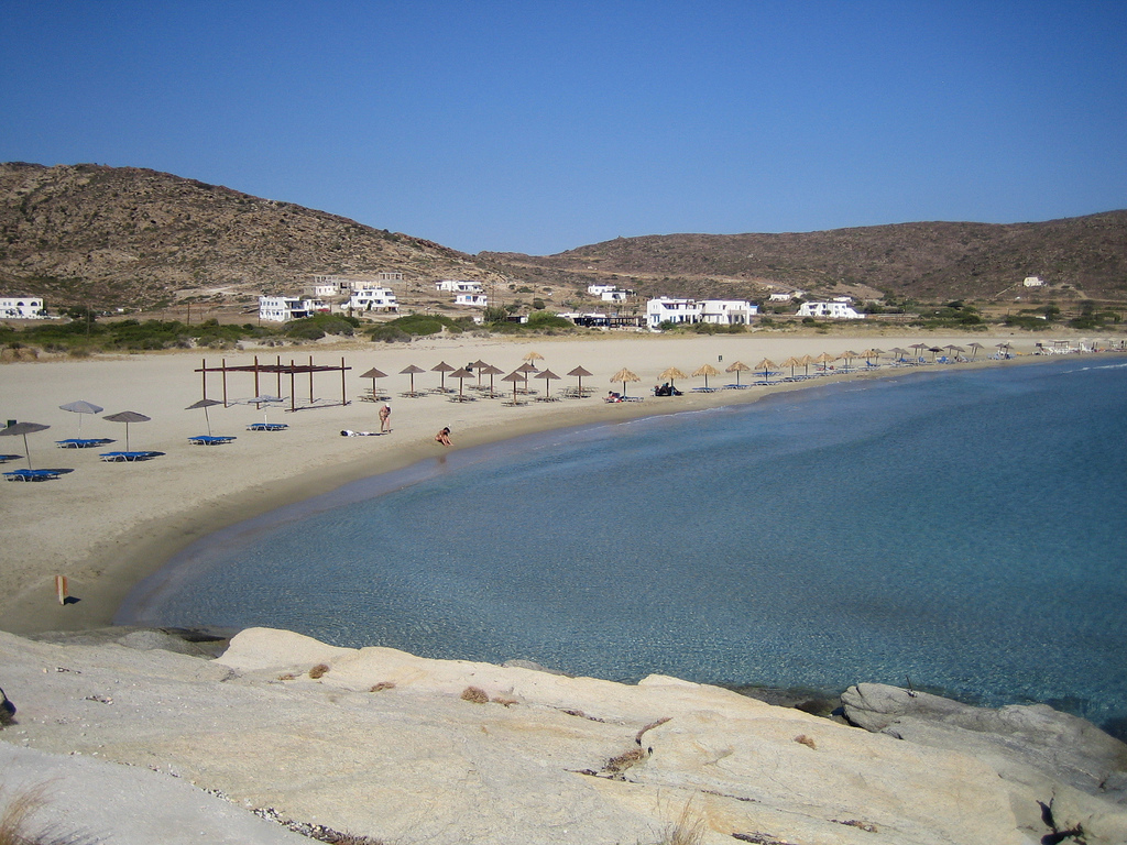 Пляж Манганари в Греции, фото 9