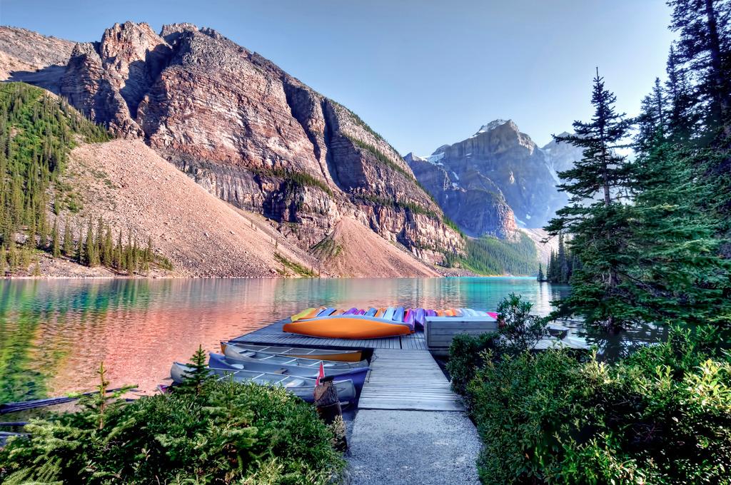 Озеро Морейн в Канаде, фото 1