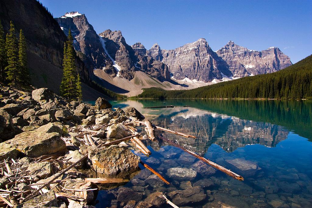 Озеро Морейн в Канаде, фото 2