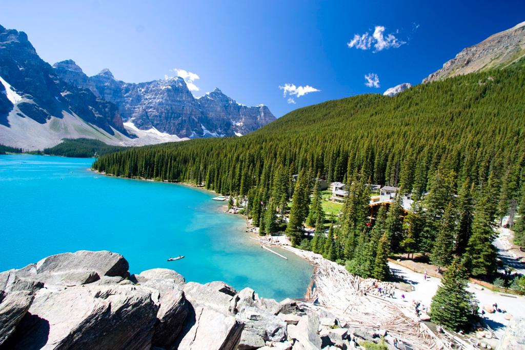 Озеро Морейн в Канаде, фото 4