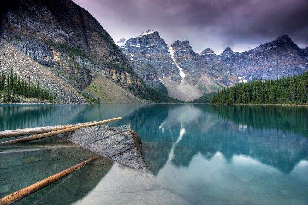 Озеро Морейн в Канаде, фото 8
