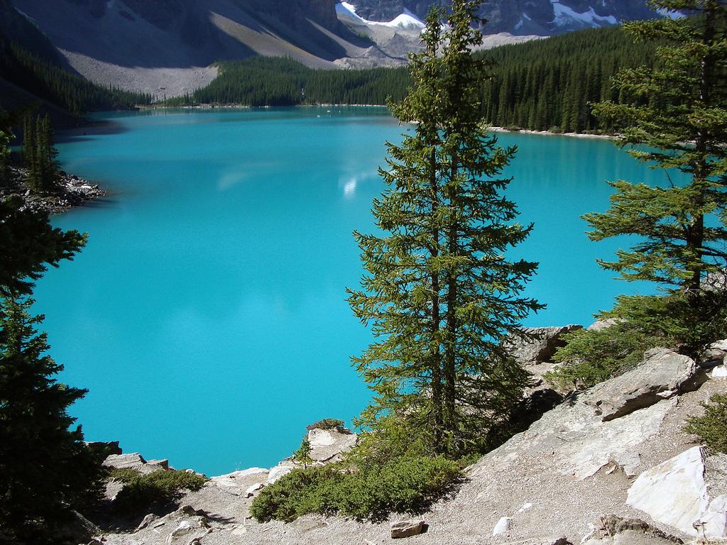 Озеро Морейн в Канаде, фото 9