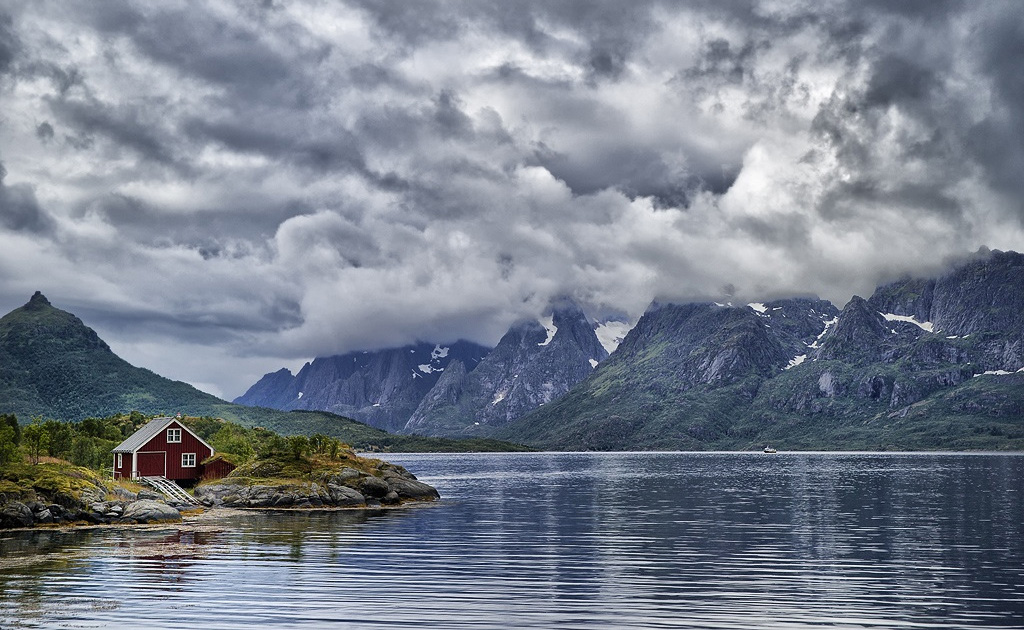 Фото норвегия водопад