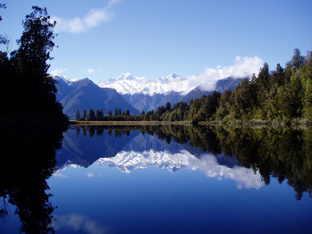 Озеро Мэтисон в Новой Зеландии, фото 1