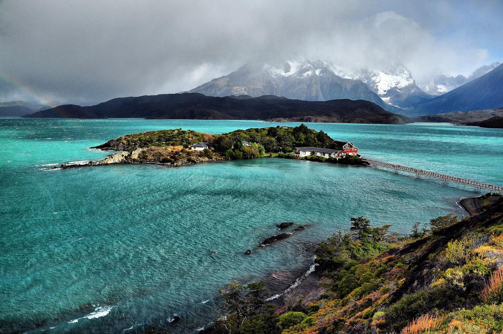 Озеро Пехое в Чили, фото 1