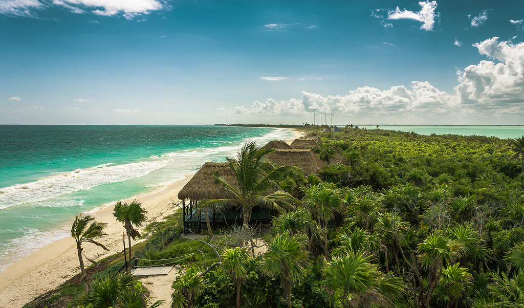 Пляж Сиан Каан в Мексике, фото 1