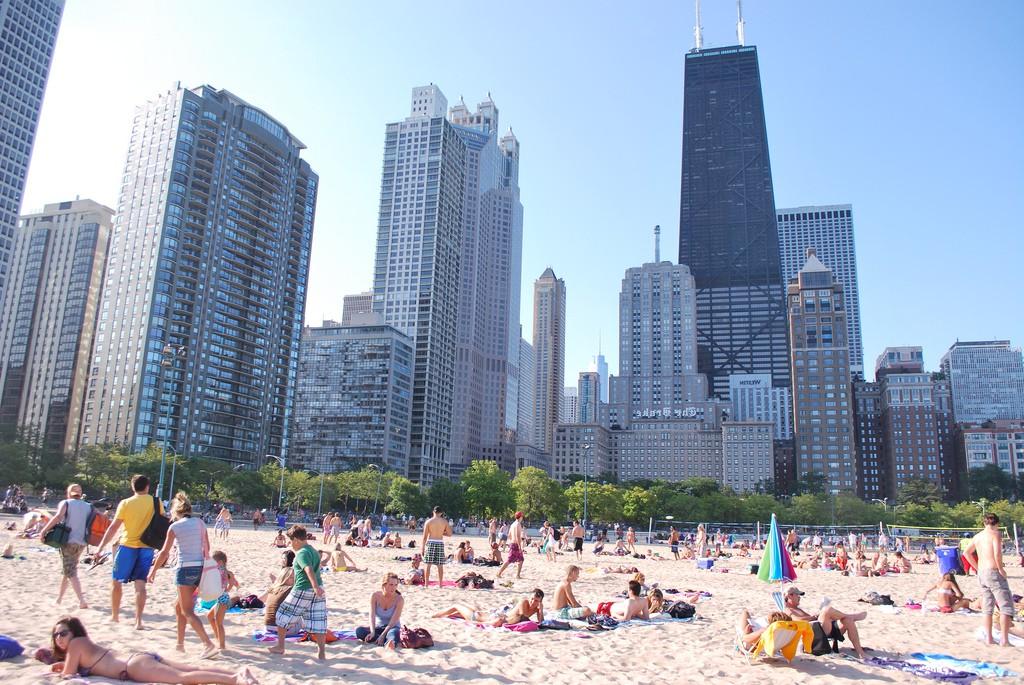 Пляж Оак-Стрит в Чикаго, США, фото 1