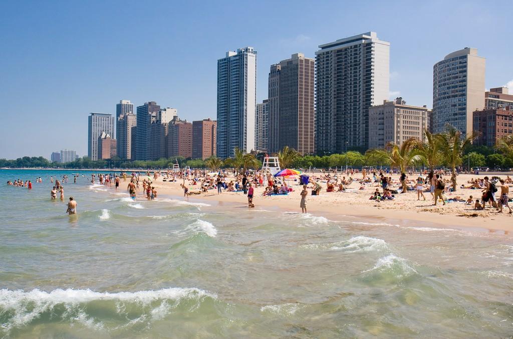 Пляж Оак-Стрит в Чикаго, США, фото 3